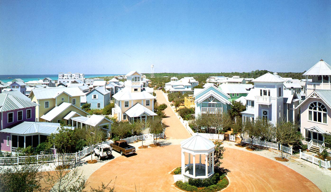 New Urbanism i sin prydno. Seaside, Flórida