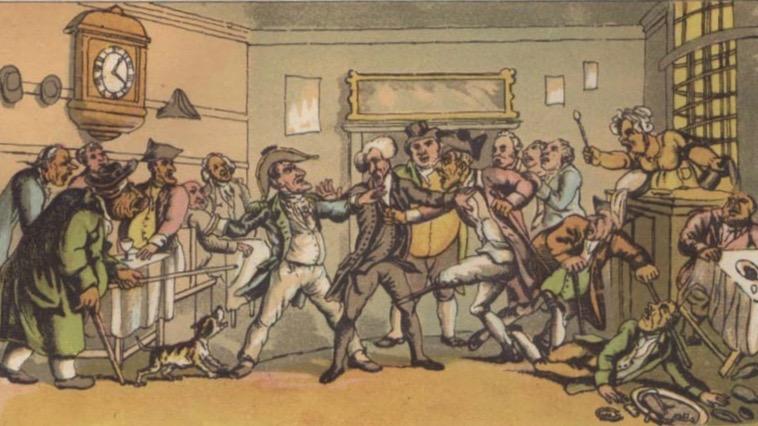 "Bråk på ett ""Coffey House"" i Bath"