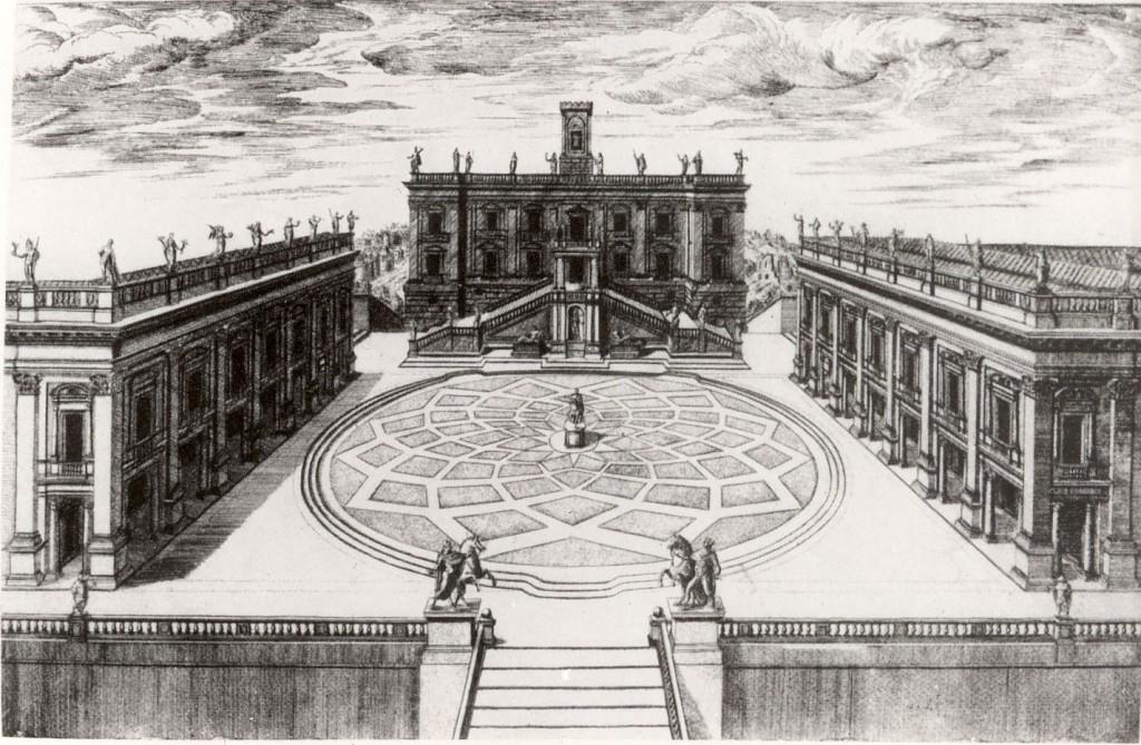 Capitolium på 1600-talet sedan Michelangelos projekt slutförts