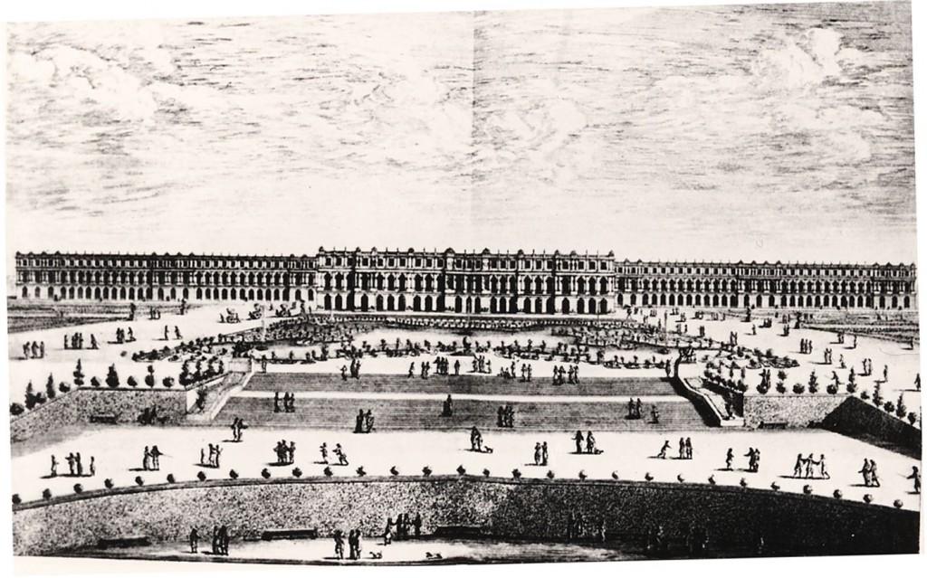 Slottet i Versailles, som med sin egenskap av kungens bostad och ett offentliggjort privatliv representerade makten